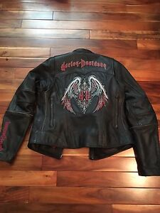 Ladies Harley Davidson leather jacket and chaps