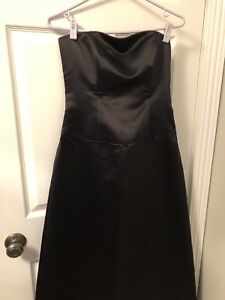 Size 6 black satin dress