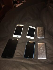 Cracked iPhones for parts