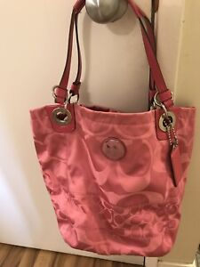 Authentic pink coach purse