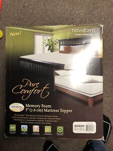Pure comfort memory foam mattress topper