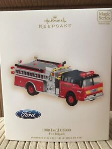 Collectible Fire Truck Ornament