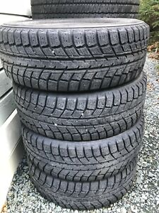 Weathermate Arctic 195/65r15 winter snow tires.