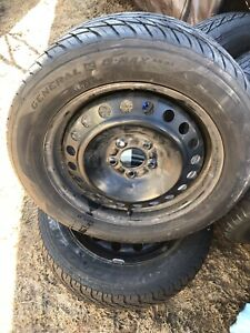 4 215/55/16 general tires in excellent shape on 5x108 rims 400