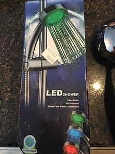 2 LED shower heads