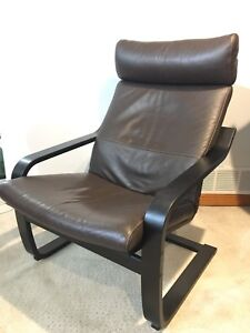 IKEA Poang leather chairs - 2