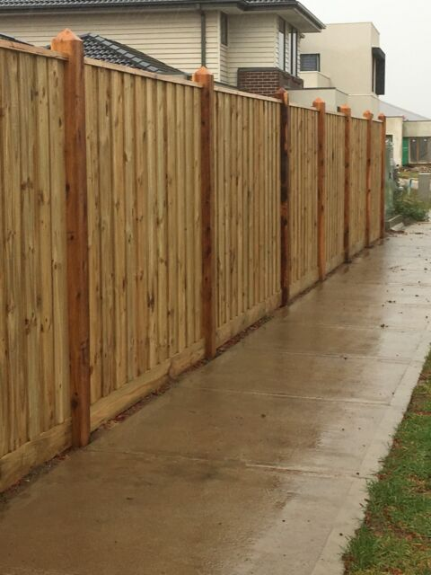 Ak Fencing Melbourne 58 M Timber Colorbond Picket And