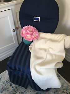 Wedding custom made Navy blue Chair Covers.