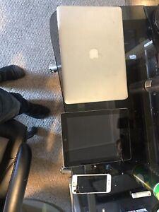 Macbook air , iPad 2 and iPhone 6s