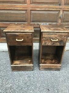 """Night tables  - Solid wood great condition 26.5"""" tall."""
