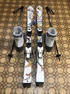 Youths atomic ski setup, full setup