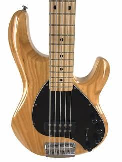 Music Man, Sterling, Ray 35 Bass, Natural, 5 STRING BASS