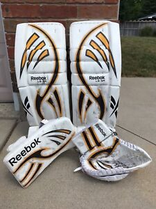 Rbk Larceny L9 pads with matching glove and blocker