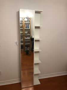 Ikea mirror cabinet with shelves