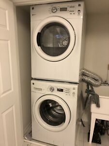"""GE 27"""" Front Load Washer & Dryer"""