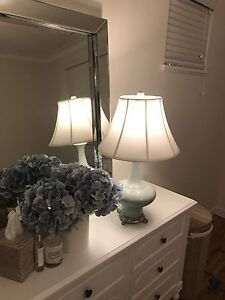 2 x White Lamps - French Provincial/Hamptons style Darling Point Eastern Suburbs Preview