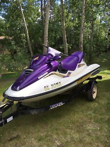 1999 SeaDoo GTI and Tow Go Trailer