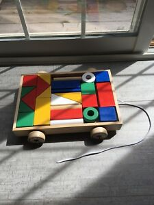 24 blocks with wagon - baby toys