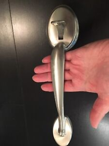 Door handle brush nickel