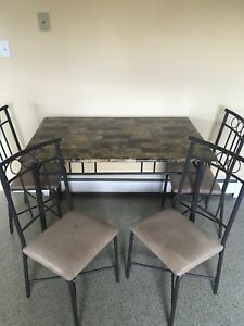 Stylish Kitchen Table and Four Chairs