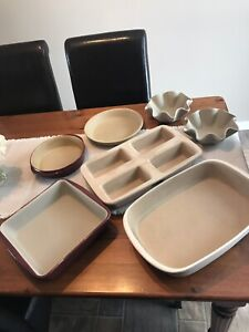 Pampered Chef Stoneware - 6 Pieces- Large White Glazed is sold