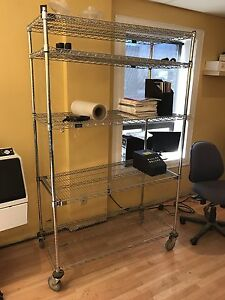 Industrial racking shelf set