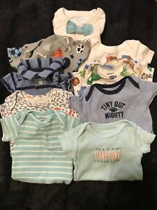 Newborn short sleeved onesies