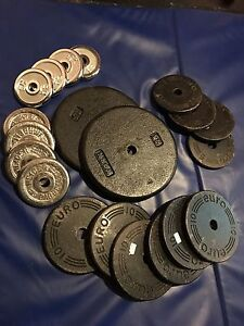 152 Lbs of Solid Steel Weight Plates