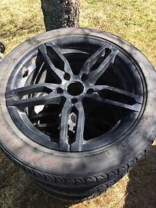 Core Racing Rims 5x4.5 17 inch with rubber