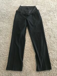 Queen Mum Straight Leg Black Dress Pants L EUC