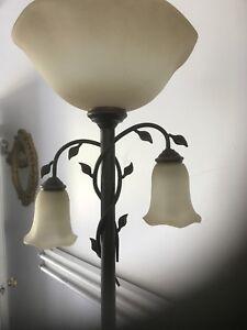6' ..Triple pedestal lamp..