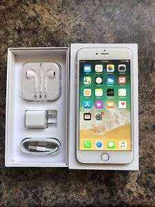 Unlocked 10/10 iPhone 6s Plus 64GB with Box, Accessories & Case