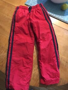 Red lined splash pants