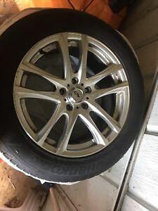 "Winter tires on rims 17"""