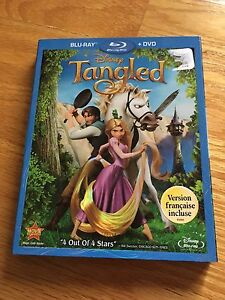 TANGLED ON BLU-RAY AND DVD 15$