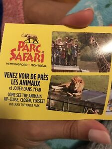 Park safari ticket valid for 7 people/ ticket du parc safari