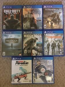 PS4 games for sale *LOWERED PRICE*