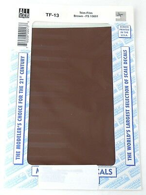 "All Scale Trim Film - Brown - Microscale #TF-13 (Approx. Size: 4-1/2"" x 7-1/2"")"