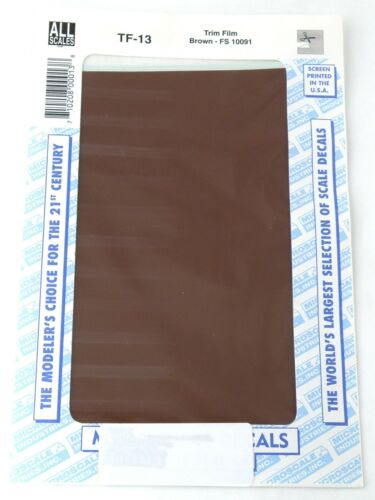 """All Scale Trim Film - Brown - Microscale #TF-13 (Approx. Size: 4-1/2"""" x 7-1/2"""")"""