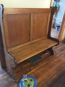 Antique fire side bench