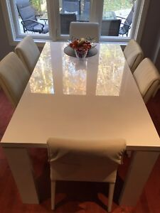 Italian dining table and chairs - price reduced