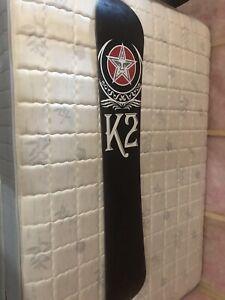 K2 snowboard with boots