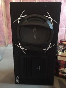 "Alpine 12"" sub and 500 watt amp"