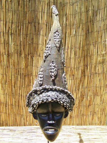 "African Art Dan Mask  From Liberia 32 1/2"" Tall"
