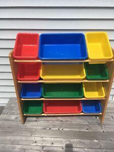 Toy Organizer with storage bins
