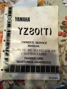 1986 1987 Yamaha YZ 80 Service Manual
