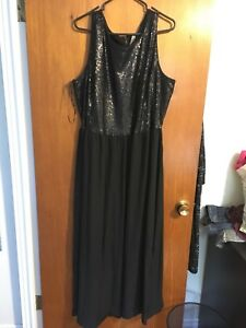 Plus size sequin black dress