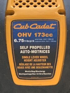 Cub cadet self propelled lawn mower