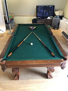 8' Pool Table with Accessories