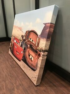 CARS Lightning McQueen and Mater canvas print